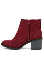 Bottine Simili peau cuir Rouge AGATANA Mode, image 02