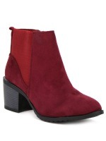 Bottine Simili peau cuir Rouge AGATANA Mode, image 03