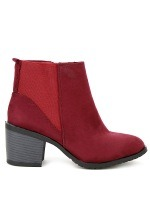 Bottine Simili peau cuir Rouge AGATANA Mode, image 01