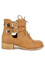 Bottine simili cuir Camel RETRANA, image 01