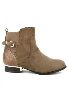 Bottines  Taupe, Chaussures Femme, Cendriyon