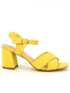 Sandales  Jaune, Chaussures Femme, Cendriyon