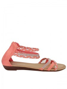 Sandales  Corail, Chaussures Femme, Cendriyon