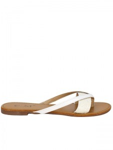 Tongs  Blanc, Chaussures Femme, Cendriyon
