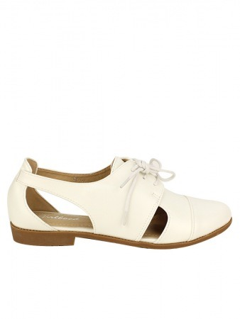Derbies Blanches Simili Cuir GIRLWOOD