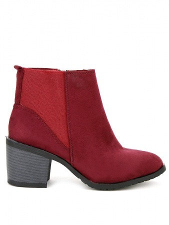 Bottine Simili peau cuir Rouge AGATANA Mode