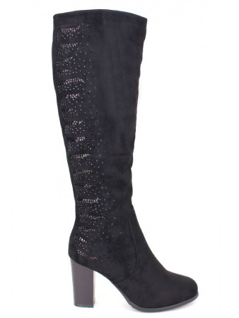 Botte Noire MILLIONS Strass SAY'S Mode