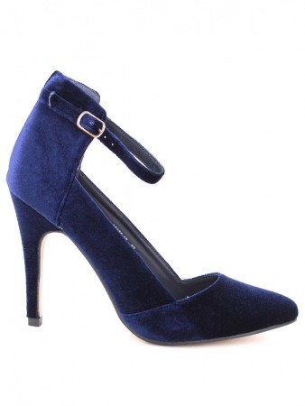 Escarpin velour Blue SERINA